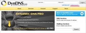 Регистрация на dyndns.com (1)