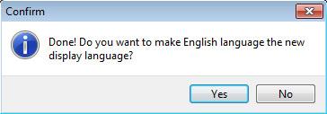 Изменить язык интерфейса?