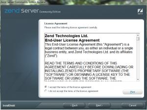 Установка Zend Server CE (2)