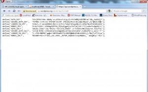 Установка WordPress (8). Создание секретных ключей