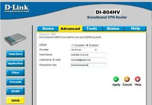 Настройка DDNS в D-link DI-804