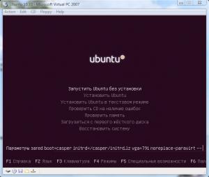 Установка Ubuntu 10 на Virtual PC (3)