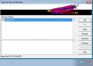 Apache в трее