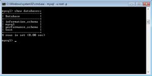 Командная строка MySQL