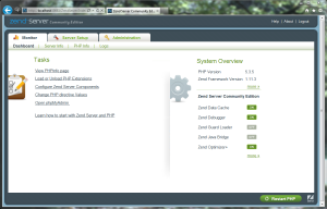 Панель управления Zend Server