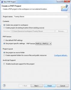 Создание PHP-проекта